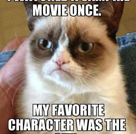 Grumpy cat watched vampire movie once - Cat humor