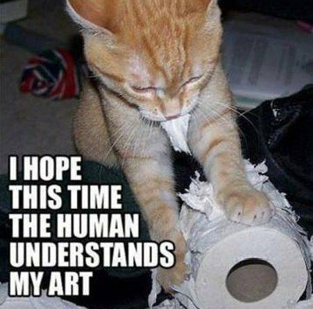 Artistic Cat - Cat humor