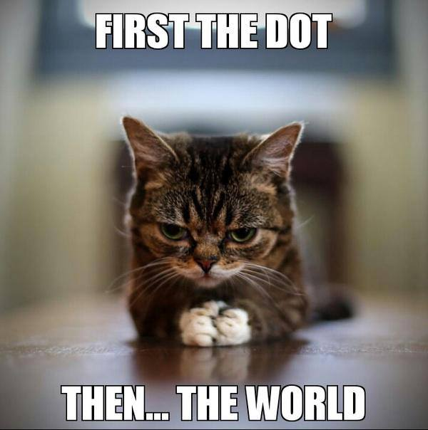 First The Dot Then... - Cat humor
